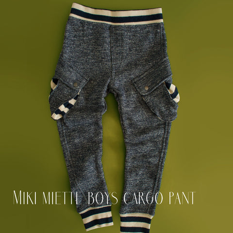 Miki Miette Boys Cargo Pant|Boys Sweatpants|Children's Sweatpants|Toddler Boys Sweatpants|