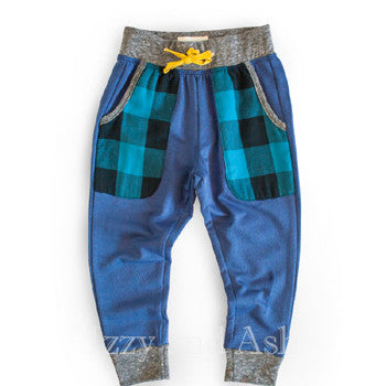 Miki Miette Infant Boys Blue Plaid Haydon Pant|Miki Miette|Miki Miette Fall 2017|Izzy and Ash|Boys Plaid Pant|Baby Boys Pants|Designer Baby Clothing|Cute Baby Clothing|Trendy Baby Clothing|Toddler Boys Pants|Toddler Pants|Blue Plaid Pants|Boys Plaid Pants