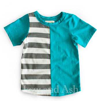Miki Miette Boys Color Block Sawyer Tee|Miki Miette|Miki Miette Spring 2017|Boys|Toddler|Toddler Boys|Infant Boys|Baby Boys Clothes|Baby Clothing|Toddler Boys Clothes|Boys T-Shirts|Boys Tees|Colorblock Shirt|Boys Trendy Children|Cute Children Clothing|Fashionable Children Clothing