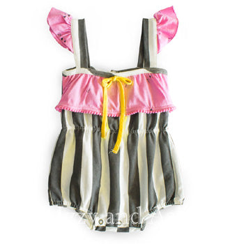 Miki Miette Infant Girls Pink Willa Romper|Miki Miette|Miki Miette Spring 2017|Miki Miette Willa Romper|Toddler Girls Clothes|Designer Children's Clothes|Girls Rompers|Toddler Girls Clothes|Girls Onesies|Toddler Girls Onesies|Baby Girls Clothing|Baby Clothing|Designer Baby Girls Clothes|Designer Toddler Clothing