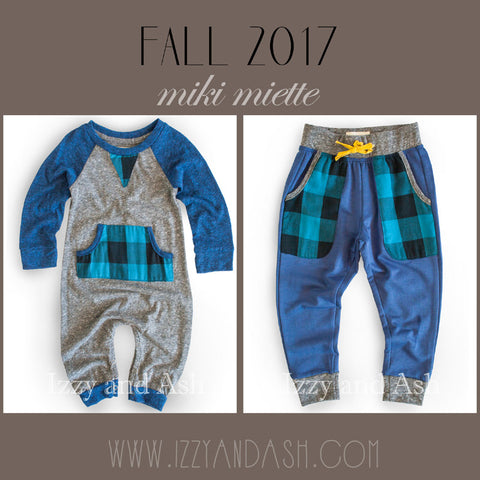 Miki Miette|Miki Miette Fall 2017|Toddler Boys|Infant Boys|Toddler Boys Clothing|Infant Boys Clothing|Baby Boys Clothes|Baby Clothing|Boys Plaid Pant|Plaid Layette|Blue Plaid Pants|Blue Plaid Layette|Miki Miette Infant Clothing|Miki Miette Baby Boys Clothes|Designer Baby Clothes|Baby Boys Clothes