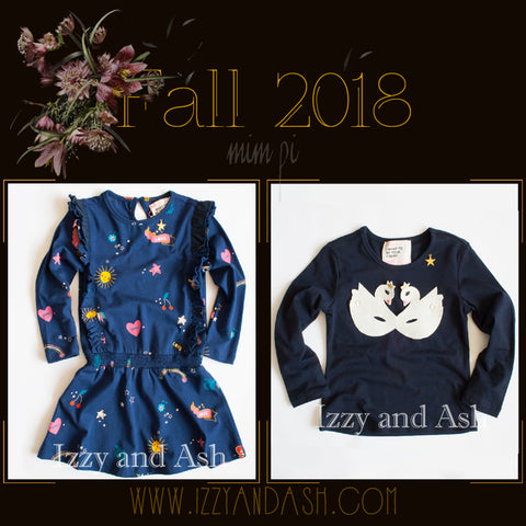 Mim Pi|Mim Pi Fall 2018|Unicorn Dress|Swan Shirt|European Children's Clothing|European Children's Clothes|Designer Children's Clothing Boutique|Tween Style|Tween Fashion|Toddler Style|Toddler Fashion|Tween Dresses|Toddler Girls Dresses|Swan T-Shirt|Swan Shirts
