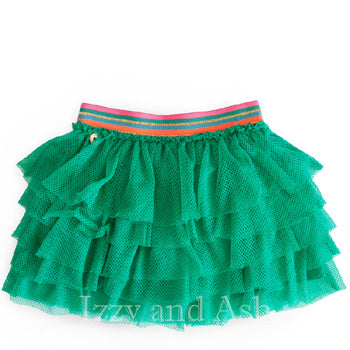 Mim Pi|Mim Pi Fall 2017|Mim Pi Girls Tutu Skirt|Tutu Skirt|Toddler Tutus|Green Tutus|Green Tutu|Chiffon Skirt|Toddler Girls Skirts|Tween Skirts|Children Skirts|Kids Skirts