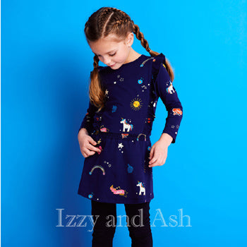 Mim Pi|Mim Pi Fall 2018|Tween Dresses|Unicorn Dress|Tween Dresses|Girls Dresses|Designer Girls Dresses|Designer Children's Clothing Boutique|Toddler Dresses|Toddler Girls Dresses|Trendy Children's Clothes