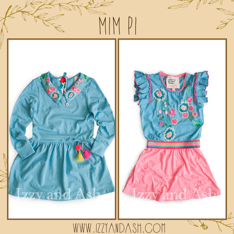 Mim Pi|Mim Pi Spring 2018|Tween Clothing|Toddler Girls Clothing|Cute Girls Clothes|European Children's Clothes|Trendy Kids Clothes|Cute Kids Clothes|Girls Dresses|Girls Blue Dresses|Pink Girls Dresses|Toddler Girls Dresses|Girls Embroidered Dress|Girls Floral Dresses