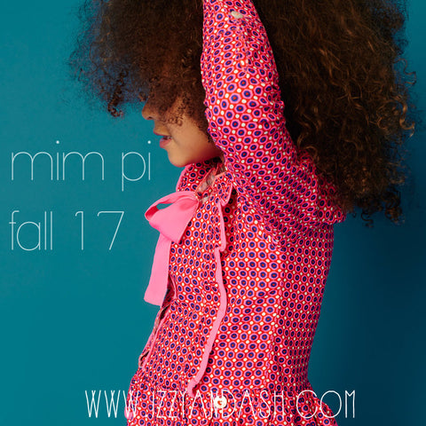 Mim Pi|Mim Pi Fall 2017|Mim Pi Clothing|Izzy and Ash|European Children's Clothes|Girls Outerwear|Designer Children's Clothes|Girls Dresses|Girls Hooded Sweater|Cute Children's Clothes