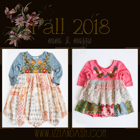 Mimi and Maggie|Mimi and Maggie Fall 2018|Mimi and Maggie Clothing|Designer Children's Clothing Boutique|Bohemian Children's Clothes|Bohemian Kids Clothes|Cute Children's Clothes|Trendy Kids Clothes|Tween Style|Toddler Style|Tween Fashion|Toddler Fashion|Cute Kids Dresses|Children Peasant Dresses|Girls Handkerchief Dresses
