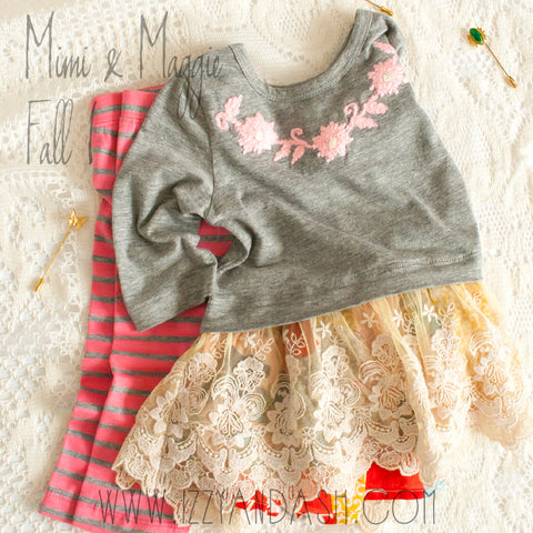 Mimi and Maggie Fall 2017|Mimi and Maggie|Winter Gardens Collection|Happiness Collection|Toddler Girls Clothing|Infant Girls Clothes|Baby Girls Clothes|Cute Baby Clothes|Cute Children's Clothing|Girls Clothes|Baby Girls Clothes|Tween Clothing|Toddler Girls Clothing