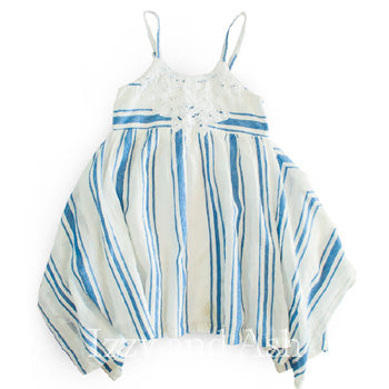 Mimi and Maggie Girls Positano Stripe Dress|Mimi and Maggie|Mimi and Maggie Spring 2017|Chambray Stripe Dress|Chambray Stripe|Dress|Dresses|Chambray|Toddler Girls Dress|Tween Dress|Linen Dress|White Linen Dress|Easter Dress|Easter Dresses