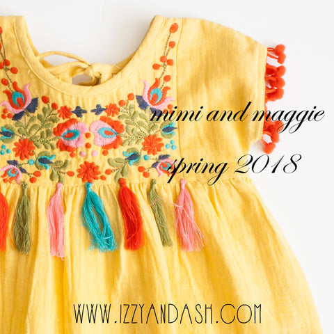 Mimi and Maggie|Mimi and Maggie Spring 2018|Bohemian Children's Clothing|Girls Dresses|Tween Dresses|Kids Dresses|Summer Dresses|Tween Clothing|Children's Clothing