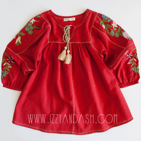 Mimi and Maggie|Mimi and Maggie Fall 2017|Bohemian Blouse|Mimi and Maggie Girls Tessa Peasant Top|Girls Blouses|Children Blouses|Kids Blouses|Girls Fall Clothes|Designer Children's Clothes
