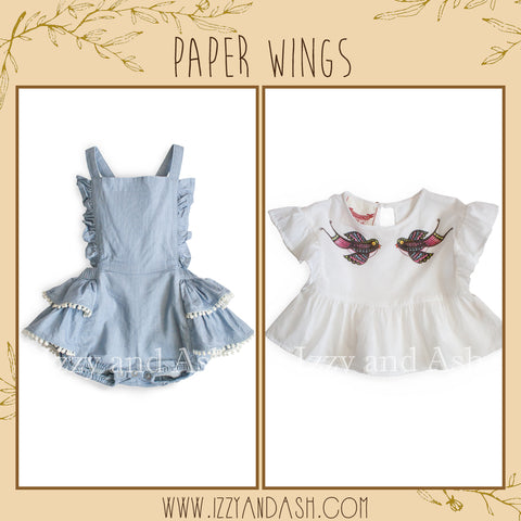 Paper Wings|Paper Wings Spring 2018|Paper Wings Spring 2018 Preview|Little Wings|Little Wings Spring 2018|Cute Baby Girls Clothes|Baby Clothing|Tween Clothing|Bohemian Children's Clothes|Trendy Children Clothes|Cute Children's Clothes|Trendy Kids Clothes|Cute Baby Clothes|Denim Rompers|Infant Layettes|Baby Girls Layettes|Vintage Children's Clothes|Vintage Kids Clothes|Vintage Baby Clothes