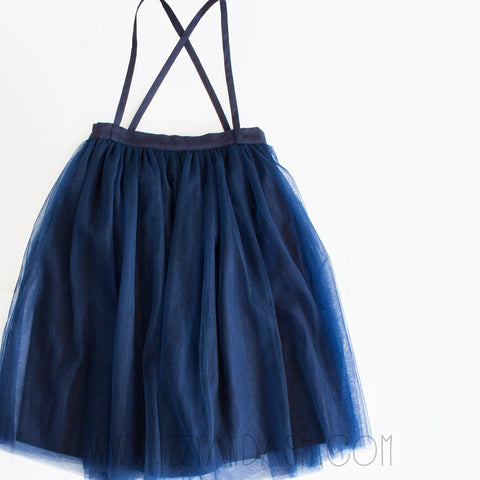 Vierra Rose Girls Tulle Overall Skirt|Vierra Rose|Vierra Rose Spring 2017|Girls Overall Skirts|Overall Skirt|Girls Overalls|Tutus|Tutu Skirt|Girls Skirts|Girls Bottoms|Tutu Tulle Skirt|Girls Tulle Skirt|Toddler Tutu Skirt|Tween Tutu Skirt|Tween Tulle Skirt|Children Tulle Skirt|Children Tutu Skirts|Kids Tutus|Kids Tutu Skirts|Navy Tutu Skirt|Navy Tulle Skirt|Children Navy Skirts|Girls Blue Skirts