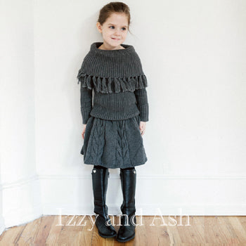 Vierra Rose Girls Tabby Sweater Skirt Legging|Vierra Rose|Vierra Rose Fall 2016