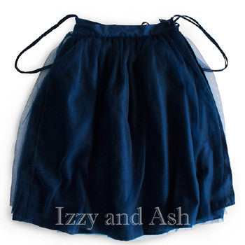 Vierra Rose|Vierra Rose Girls Tulle Overall Skirt|Vierra Rose Overall Skirt|Girls Overall Skirts|Girls Navy Skirt|Navy Tutu Skirt|Girls Tutu|Children Tutu|Kids Tutu|Blue Tutu Skirt|Blue Tutu|Designer Children's Clothes|Girls Bottoms|Toddler Skirts|Tween Skirts|Tween Clothing|