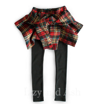 Vierra Rose Girls Plaid Skirt Legging|Vierra Rose|Skirt Legging|Plaid Skirt|Toddler Girls Legging|Skirt-Leggings