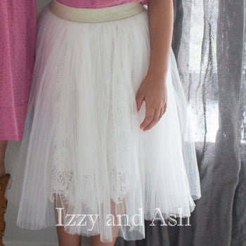 Vierra Rose Girls Tutu Skirt|Vierra Rose|Vierra Rose Spring 2016|Girls Tutu Skirt|White Tutu|Tutu Skirt