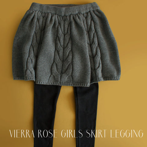 Vierra Rose Girls Tabby Sweater Skirt Legging|Vierra Rose|Vierra Rose Clothes|Skirt Legging|Skirt-Legging|Cable Sweater Skirt|Tween Skirts|Tween Leggings|Toddler Skirts|Toddler Skirt Legging|Designer Children's Clothes|Designer Kid's Clothes|
