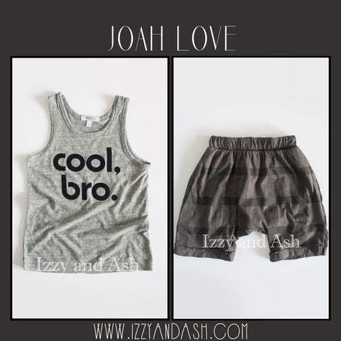 Joah Love Spring 2017|Joah Love|Joah Love Cool Bro|Joah Love Childrens Clothes|Cool Bro Tank|Cool Bro Shirt|Designer Children's Clothing Boutique|Designer Boys Clothing|Designer Girls Clothes