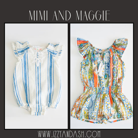 Mimi and Maggie Spring 2017|Mimi and Maggie|Mimi and Maggie Infant Girls Stripe Scooter Romper|Mimi and Maggie Girls Lucca Peasant Romper|Girls Dresses|Mimi and Maggie Dresses|Tween Dresses|Infant Girls Bubble Romper|Baby Girls Clothing|Designer Children's Clothing