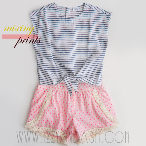 Egg Girls Twist Bottom Top|Egg|Egg Children's Clothing|Egg Girls Tassel Shorts|Egg Baby