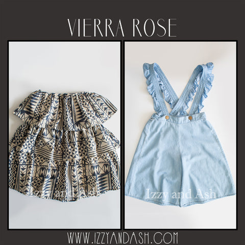 Vierra Rose|Vierra Rose Spring 2017|Vierra Rose Ruffle Dress|Vierra Rose Overalls|Vierra Rose Blouse|Girls Puff Sleeve Blouse|Designer Girls Clothing|Designer Children's Clothing