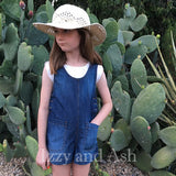 Anthem of the Ants|Girls Jean Romper|Denim Romper|Toddler Romper|Tween Romper|Jean Romper