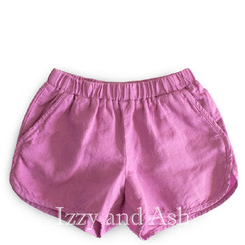 Anthem of the Ants Girls Lavender Linen Shorts|Anthem of the Ants Linen Shorts|Girls Linen Shorts