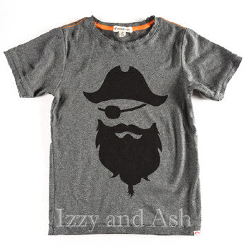 Appaman Boys Shirt|Appaman Shirt|Appaman Boys Grey Blackbeard T-Shirt