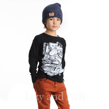 Appaman|Appaman Boys Cassettes Shirt|Black Shirt|Boys Shirts|Designer Boys Clothes|Designer Toddler