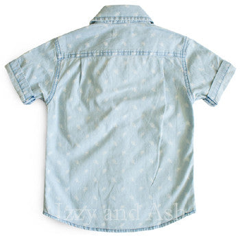 Appaman Boys Light Blue Chambray Shirt