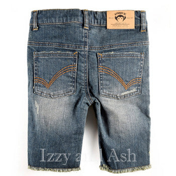 Boys Distressed Jean Shorts|Boys Distressed Jeans|Toddler Boys Jeans|Toddler Denim
