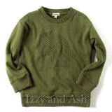 Appaman Boys Highland Fox Sweater|Appaman|Appaman Toddler Boys Clothing|Appaman Fox Sweater|Green Fox Sweater