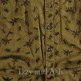 Appaman Boys Olive Printed Button Down Shirt