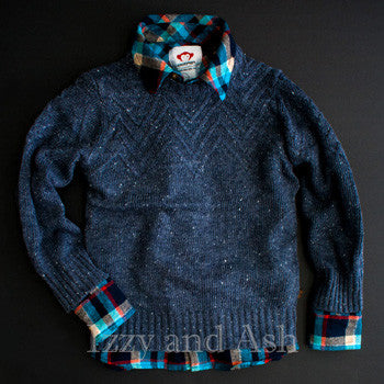 "<img src=""Appaman-Boys-Navy-Mercer-Speckle-Sweater-Teal-Plaid-Flannel-Shirt-Fall-2017-Izzy-and-Ash.jpg"" alt=""Appaman Boys Navy Mercer Speckle with Teal Plaid Flannel Shirt Sweater Fall 2015 Izzy and Ash"">"