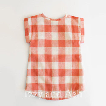 Designer Girls Dresses|Red Plaid Tunic|Toddler Girls Clothes