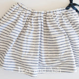 Navy and White Stripe Skirt|Girls Skirts|Designer Girls Skirts