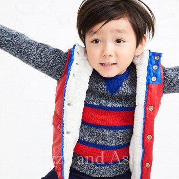 Izzy and Ash|Trendy Children's Clothing|Designer Children's Clothes|Boys Puffer Vest|Red Ski Vest