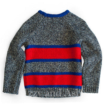 Cute Children's Clothes|Boys Stripe Sweater|Blue Sweater|Boys Blue Stripe Sweater|Red Stripe Sweater|