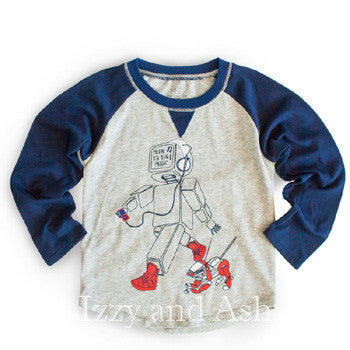 Izzy and Ash|Designer Children's Clothing Boutique|Boys T-Shirts|Boys Shirts|Shirts|Robot Shirt|Robot