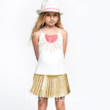 Gold Lame Skirts|Gold Skirts|Gold Metallic Skirts|Metallic Skirts|Children Metallic Skirt|Tween Skirts