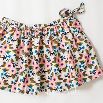 Egg Girls Floral Corduroy Skirt