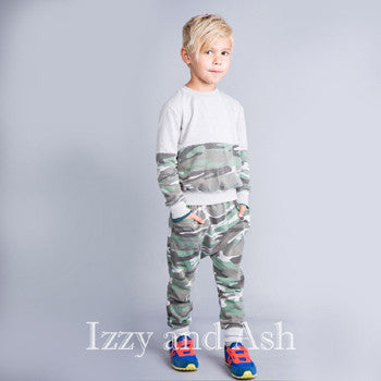 Joah Love Fall 2017|Joah Love|Boys Camo Sweatshirt|Camo Sweater|Boys Camo|Children Camo
