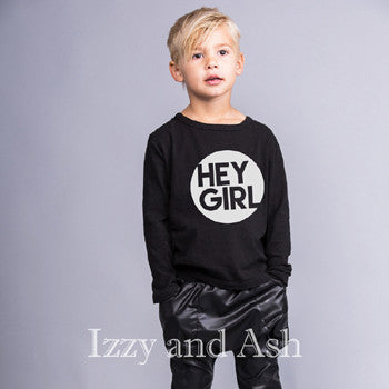 Joah Love Boys Hey Girl Shirt|Joah Love Fall 2016|Joah Love|Hey Girl|Hey Girl T-Shirt|Boys Graphic T