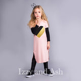 Joah Love Heart Dress|Pink Maxi Dress|Children Maxi Dress|Kid's Maxi Dress|Girls Pink Dress|Pink