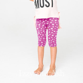 Joah Love Pink Asher Leggings|Joah Love Pink Star Leggings|Joah Love Capri Leggings