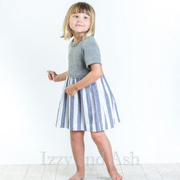 Joah Love|Joah Love Spring 2017|Girls Dresses|Chambray Dress|Spring Dresses|Easter Dresses|Blue Dress