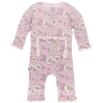 Kickee Pants|Kickee Pants Fall 2|Kickee Pants Fall 2017|Kickee Pants Fall 2 2017|Kickee Pants Coveralls|Kickee Pants Sweet Pea Poppies Coverall|Unique Baby Clothes|Designer Children's Clothing Boutique