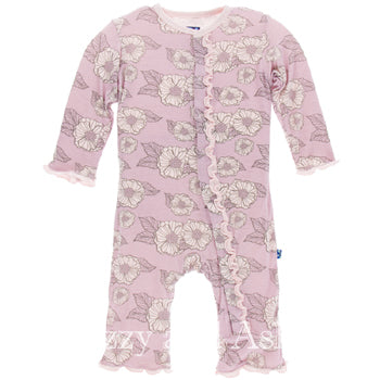 Kickee Pants Fall 2017|Kickee Pants Fall 2 2017|Kickee Pants Infant Girls Sweet Pea Poppies Ruffle Coverall
