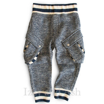 Miki Miette Boys Tweed Vedder Cargo Sweatpants|Miki Miette|Miki Miette Fall 2016|Toddler Boys